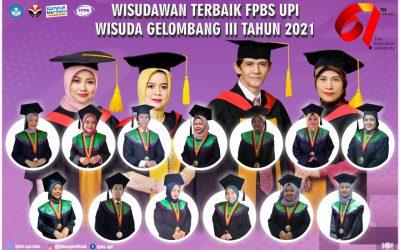 383 Lulusan FPBS UPI Diwisuda pada Tanggal 13 Oktober 2021